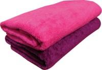 YNA Solid Bath Collection Cotton Bath Towel (2 Bath Towel, Purple)