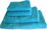 Skumars Love Touch Premia Cotton Bath, Hand & Face Towel Set 2 Bath Towel, 2 Hand Towel, Blue