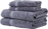 Trident Organica Cotton Set Of Towels, Bath & Hand Towel Set 2 Bath Towel, 2 Hand Towel, Purple