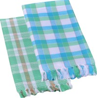 Suam Cotton Bath Towel Pack Of 2 Bath Towel, Green, Blue