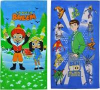 BEN 10 And Chhota Bheem Cotton Bath Towel (2 Bath Towels, Multicolor)