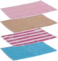Goodway Stripes Cotton Hand Towel Pack Of 4 Gym Towel, Pink