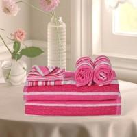 Cortina Cotton Bath, Hand & Face Towel Set 2PC Hand Towel Set, 2PC Bath Towel Set, 2PC Face Towel Set, Pink - BTWEJDRUMQNTZTAP