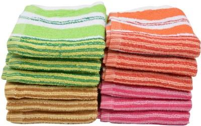 ShopSince Cotton Hand Towel Multicolour Cotton Hand Towel - Set Of 12, Multicolor