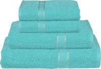 RR Textile House Cotton Bath, Hand & Face Towel Set Ladies Towel 1, Bath Towel 2, Hand Towel, Blue