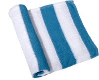 Skumars Love Touch Cotton Bath Towel 1 Bath Towel, White, Blue