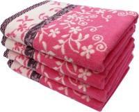 Mandhania Cotton Set Of Towels 4 Bath Towel, Pink