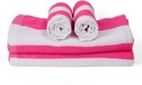 Cortina Cotton Bath & Hand Towel Set 2PC Hand Towel Set, 2PC Bath Towel Set, Pink - BTWEJDRTYCJPJUFC