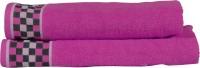 RR Textile House Cotton Bath, Hand & Face Towel Set 2, Purple