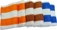 Fashiza JJ Cotton Terry Face Towel Set (6 Face Towel Set, Multicolour)
