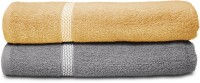 Swiss Republic Cotton Bath Towel (2 Bath Towels, Light Brown, Light Grey)