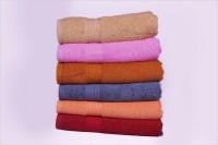 Creative Terry Cotton Bath Towel Set 6 Bath Towel, Beige, Pink, Mustered, Steel Grey, Peach, Maroon