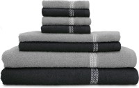 Swiss Republic Cotton Bath, Hand & Face Towel Set 2 Bath Towels, 2 Hand Towels, 4 Face Towels, Dark Grey, Light Grey
