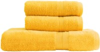 Just Linen Quintessential Combo Pack Yellow Cotton Plain Bath & Hand Towel Set (Pack Of 3)
