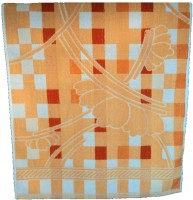 Amita Home Furnishing Checks Cotton Bath Towel 1 Bath Towel, Orange
