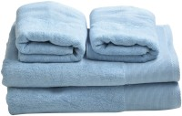 Homeway Cotton Bath & Hand Towel Set Bath & Hand Towel Set, Light Blue