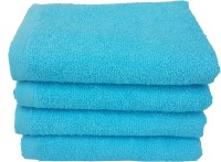 Divine Overseas Cotton Hand Towel Set 4 Pieces Premium Hand Towel, Blue