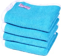 Mumma's Touch Bamboo Baby Towel (Organic Cotton & Bamboo Baby Wash Towel-Set Of 4, 0-2 Yrs, Aqua)