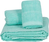NKP Solid Cotton Bath & Hand Towel Set Bath Towel, Hand Towel, Light Green