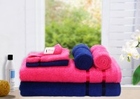 Story@home Cotton Bath, Hand & Face Towel Set 2 Pc Bath Towel, 2 Hand Towel, 2 Face Towel, Pink
