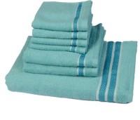 Rich Cottons Cotton Set Of Towels, Bath Towel, Hand Towel, Face Towel 7, Light Blue