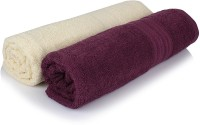 Cloth Fusion Cotton Bath Towel 2 Full Size 100% Cotton Bath Towel Size 30 InchesX60 Inches Or 75 Cm 150cm, Purple