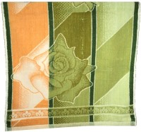 Amita Home Furnishing Floral Cotton Bath Towel 1 Bath Towel, Green