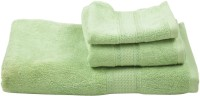Homeway Cotton Bath, Hand & Face Towel Set Bath, Hand & Face Towel Set, Green