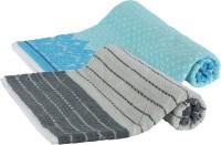 Goodway Stripes Cotton Bath Towel (Pack Of 2 Bath Towel, Blue, Grey) - BTWE6PWREDTDCYVZ