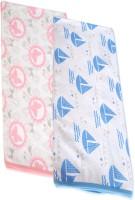 Hatchlingz Cotton Baby Towel (2 Bath Towel, Blue, Pink)