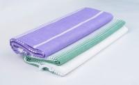 Sathya Turkish Cotton Bath Towel (2 Bath Towel, Lavender, Green)