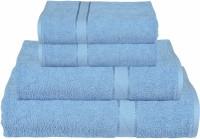 RR Textile House Cotton Bath, Hand & Face Towel Set 1, Ladies Towel 1, Bath Towel 2, Hand Towel, Blue