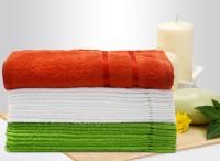 Story@home Cotton Bath & Face Towel Set (1 Pc Bath Towel + 10 Pc Face Towel + 10 Pc Face Towel, Orange)