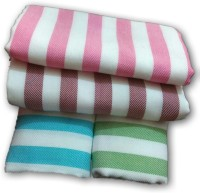 Cotton Colors Cotton Bath Towel, Set Of Towels 4 Bath Towels, Multicolor