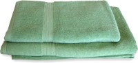 Skumars Love Touch Premia Cotton Bath Towel Set (2 Bath Towel, Green)