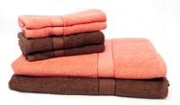 The Home Story Cotton Bath & Hand Towel Set 2 Bath Towels 30x60 Inches, 4 Hand Towels 16x24 Inches., Brown, Orange