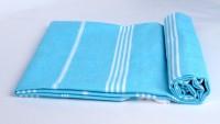 Sathya Turkish Cotton Bath Towel (1 Bath Towel, Blue, White)