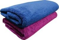 YNA Solid Bath Collection Cotton Bath Towel (2 Bath Towel, Pink)