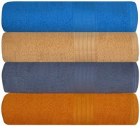 GRJ INDIA Cotton Bath Towel Set Of 4 Bath Towels, Multicolor