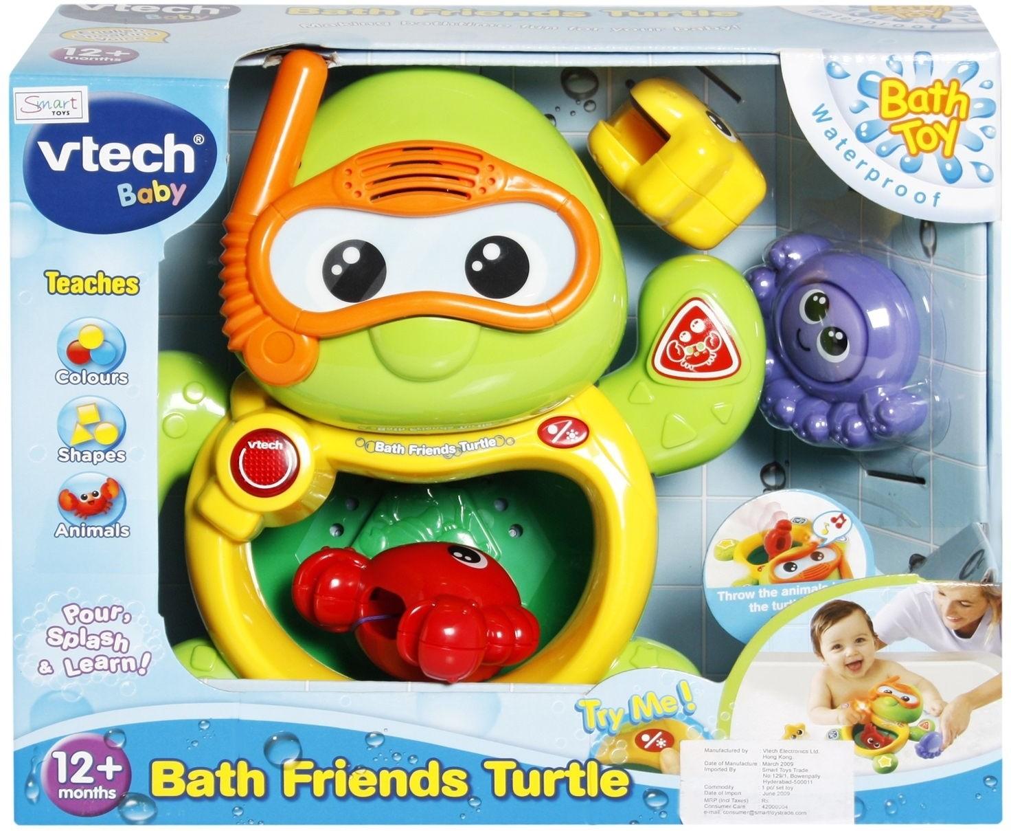 Vtech bath friends turtle octopus starfish crab bath for Bureau vtech 3 en 1