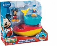 Fisher-Price Mickey And Donald's Stacking Bath Boats Bath Toy (Multicolor)