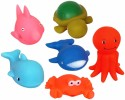 Ollington St. Collection Squeezy Toy - Sea Animals Bath Toy - Multicolor