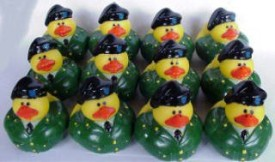 OTC One Dozen (12) US Army Rubber Ducky Party Favors Bath Toy