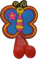 Buddyboo Red Butter Fly Tooth Brush Holder Bath Toy (Multicolor)