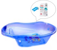Farlin Baby Angel Bath Tub With Finger Type Toothbrush (Blue)