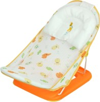 N&M Animal Face Seater Print Soft Fabric Cradle Baby Bather 0 To 6 Months (Orange)