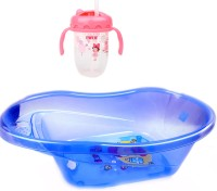 Farlin BABY BATH TUB & BABY SIPPER CUP COMBO (PINK)