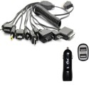 HAVEIN 10 IN 1 MULTIPLE CABLE WITH CAR DOCK Battery Charger (BLACK)
