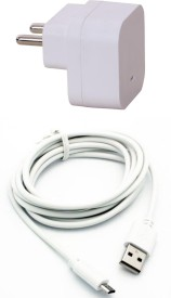Trust 1.5A. USB Adapter With Cable (3 Mtr) For Mcrmx Canvas Selfie 2 Battery Charger (White)