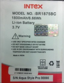 Intex BR1875BC 1800mAh Battery